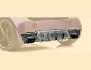 Накладка на задний бампер с выхлопной системой Mansory для Smart Fortwo