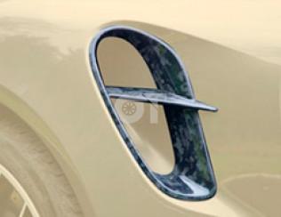 Накладки на воздухозаборники задних крыльев v.2 Mansory для Porsche 911 Turbo S