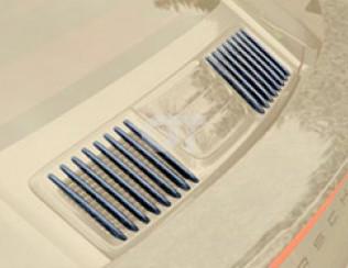 Накладки на крышку моторного отсека (боковые части) Mansory для Porsche 911 Turb..