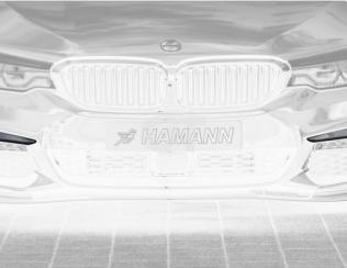 Комплект накладок переднего бампера Hamann для BMW 5-series G30