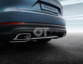 Накладка заднего бампера для Porsche Cayenne E3